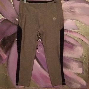 Cute gray RBX gray and black workout capri